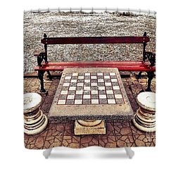 Care For A Game Of Chess? Shower Curtain