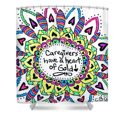 Caregiver Flower Shower Curtain