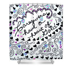 Caregiver Hearts Shower Curtain