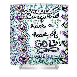 Caregiver Joy Shower Curtain by Carole Brecht