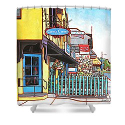 Caren's Corner Shower Curtain by Nadi Spencer