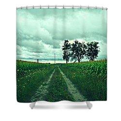 Caressing The Corn Path Shower Curtain by Cyryn Fyrcyd