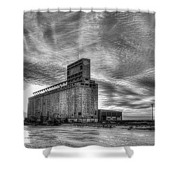 Cargill Sunset In B/w Shower Curtain