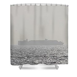 Cargo Au Large Shower Curtain by Marc Philippe Joly