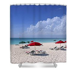 Caribbean Blue Shower Curtain by Stephen Anderson