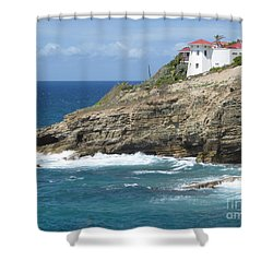 Caribbean Coastal Villa Shower Curtain