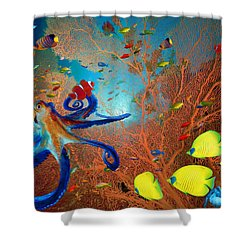 Caribbean Coral Reef Shower Curtain