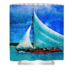Shower Curtain featuring the painting Caribbean Dream by Angela Treat Lyon