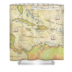 Caribbean Map - Good Shower Curtain