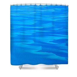 Caribbean Ocean Abstract Shower Curtain by Jetson Nguyen