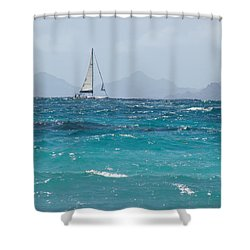 Shower Curtain featuring the photograph Caribbean Sailing by Margaret Bobb