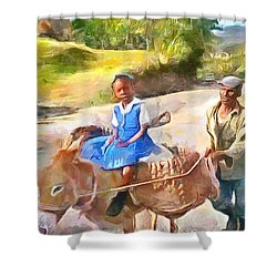 Caribbean Scenes - School In De Country Shower Curtain