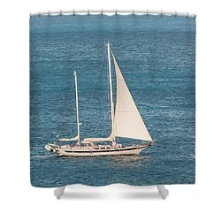 Shower Curtain featuring the photograph Caribbean Scooner by Gary Slawsky