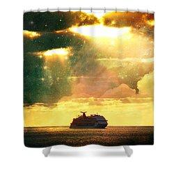 Caribbean Sunset Cloud Art Shower Curtain
