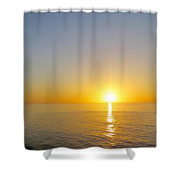 Caribbean Sunset Shower Curtain by Teresa Wing