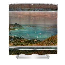 Shower Curtain featuring the digital art Caribbean Symphony by Hanny Heim
