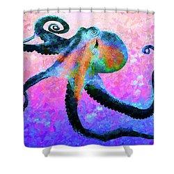 Caribbean Tango Abstract Shower Curtain