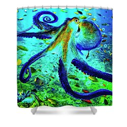 Caribbean Tropical Reef Shower Curtain