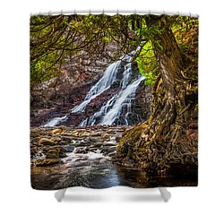 Shower Curtain featuring the photograph Caribou Falls In Fall by Rikk Flohr