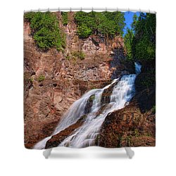 Caribou Falls Shower Curtain