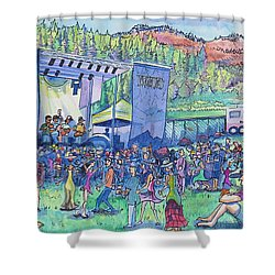 Caribou Mountain Collective At Yarmonygrass Shower Curtain by David Sockrider