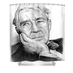 Carl Sandberg Shower Curtain