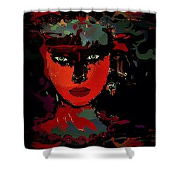 Carla Shower Curtain by Natalie Holland