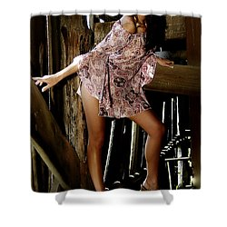 Carla's In The Barn Again Shower Curtain by Clayton Bruster