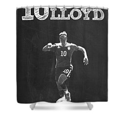 Carli Lloyd Shower Curtain by Semih Yurdabak