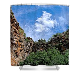 Shower Curtain featuring the photograph Carlsbad Caverns by Gina Savage