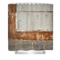 Carlton 14 - Abstract Concrete Wall Shower Curtain