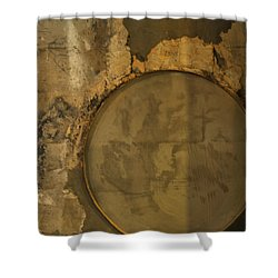 Carlton 3 - Abstract Concrete Shower Curtain