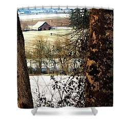 Carlton Barn Shower Curtain