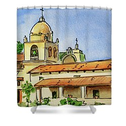 Carmel By The Sea - California Sketchbook Project  Shower Curtain by Irina Sztukowski