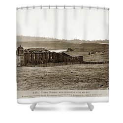 Carmel Mission, With Glimpse Of River And Bay Circa 1880 Shower Curtain