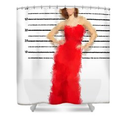 Shower Curtain featuring the digital art Carmela by Nancy Levan