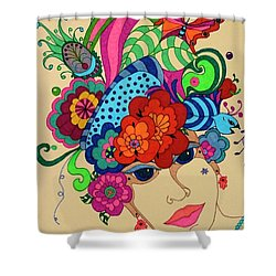 Shower Curtain featuring the painting Carmen by Alison Caltrider