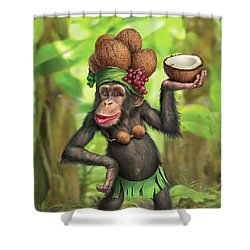 Carmen Coconuts Shower Curtain