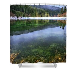 Shower Curtain featuring the photograph Carmen Reservoir by Cat Connor