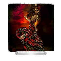 Carmen Shower Curtain by Shanina Conway