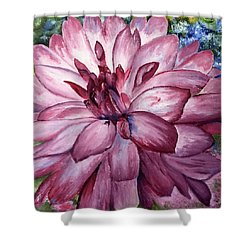 Carmine Dahlia Shower Curtain