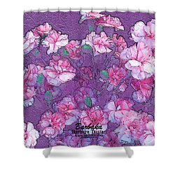 Shower Curtain featuring the digital art Carnation Inspired Art by Barbara Tristan