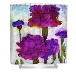 Carnations Shower Curtain by Julie Maas