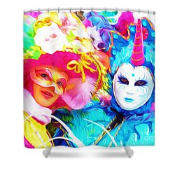 Carnevale Two Shower Curtain