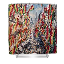 Carnival In The Grote Gracht In Maastricht Shower Curtain by Nop Briex