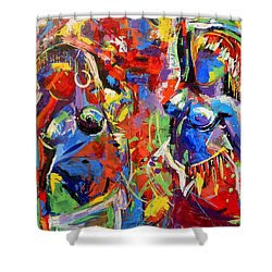 Carnival- Large Work Shower Curtain