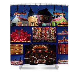 Carnival Shower Curtain by Mary Bedy