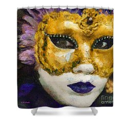 Carnival Of Venice Shower Curtain by Elizabeth Coats