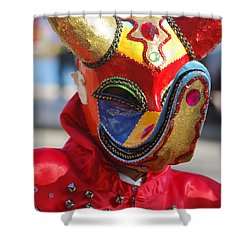 Carnival Red Duck Portrait Shower Curtain