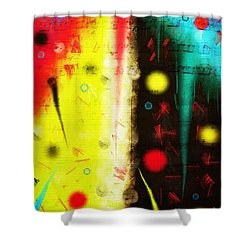 Shower Curtain featuring the digital art Carnival by Silvia Ganora